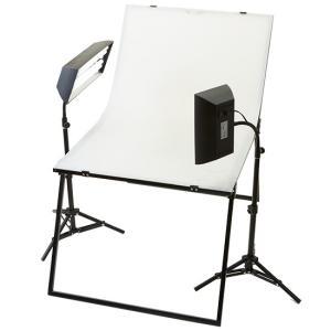 蛍光灯ボックスライト2灯撮影セット スタンド仕様|tpc