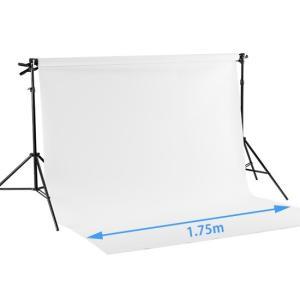 バック紙撮影セット Mサイズ ストロボライト 2灯セット(バック紙1.75x2.7m白付き)|tpc|06