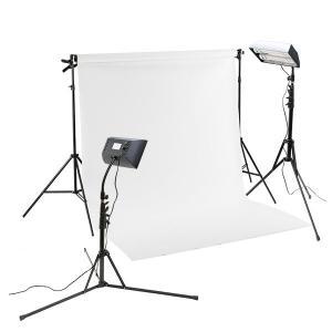 ミニバック撮影セットSサイズ ボックス蛍光ライト付き(w1.35mm x 5.55mバック紙 白 付き)|tpc