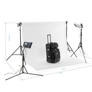 ミニバック撮影セットSサイズ ボックス蛍光ライト付き(w1.35mm x 5.55mバック紙 白 付き)|tpc|04