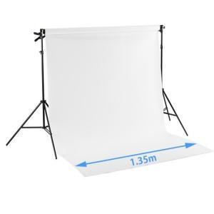 ミニバック紙撮影セットSサイズ ストロボライト2灯付き(w1.35m x 5.5mバック紙 白付き)|tpc|02