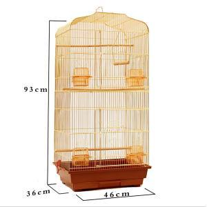 鳥かご  バードケージ 鳥小屋 大型 複数飼い 組み立て式 ゲージ インコ 色ゴールド