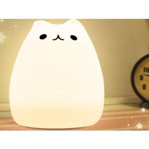シリカゲル猫 萌え猫 ランプ ベッドランプ 雰囲気七色のグラデーション呼吸ライト|tradewingjapan