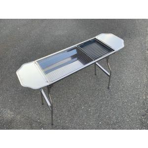 ・サイズ・長さ73cm(テーブル込み109cm)幅33cm高さ70cm(焼き台11cm)  ・重量4...
