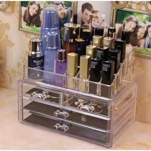 化粧品収納ボックス コスメ収納スタンド メイクボックス 小物入れ|tradewingjapan