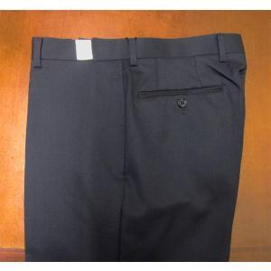 秋冬春 メンズ パンツ ネイビー ノータック OXFORD CLASSIC 10088|tradhousefukiya