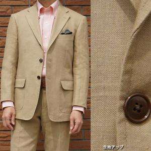 春夏 麻100%スーツ ベージュ系 5652 OXFORD CLASSIC PremiumLine|tradhousefukiya