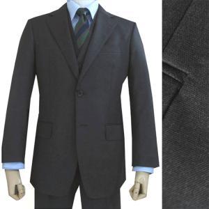 秋冬 メンズ スーツ チャコールグレー 無地 2つボタン スリーピース(襟無しベスト)OXFORD CLASSIC 1118|tradhousefukiya