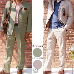 春夏秋物 3つボタン スーツ コットン オリーブ OXFORD CLASSIC  0970|tradhousefukiya