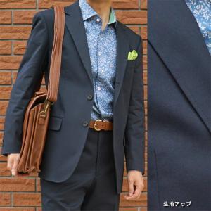 春夏秋 コットンスーツ ネイビー OXFORD CLASSIC PremiumLine 0688|tradhousefukiya