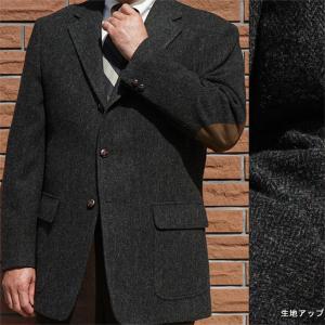 秋冬 メンズ ツイード ジャケット 黒 段返り3つボタン エアロ OXFORD CLASSIC 2109|tradhousefukiya
