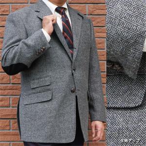 秋冬 メンズ ツイード ジャケット グレー 3つボタン OXFORD CLASSIC 0118 tradhousefukiya