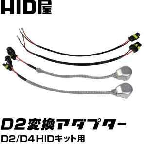 D2/D4 HIDコンバージョンキット用 純正銀色のメッシュチュープ・銀色のコネクター(純正品)各2本  D2ケーブル 各2本 送料無料