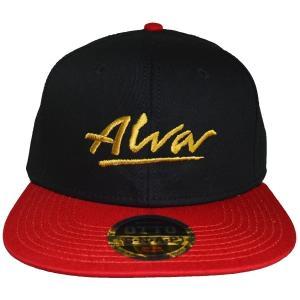 ALVA OG Logo スナップバックキャップ BLACK×RED|tradmode