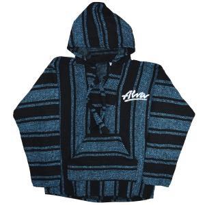 ALVA '77 OG Logo メキシカンパーカー BLUE STRIPE|tradmode