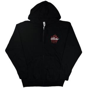 ALVA Scratch Logo ZIP フード パーカー BLACK|tradmode