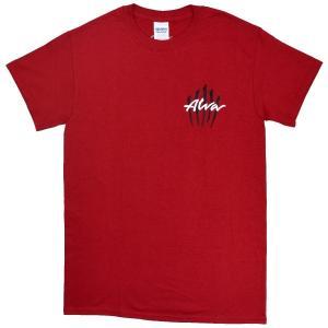 ALVA Scratch Logo Tシャツ RED|tradmode