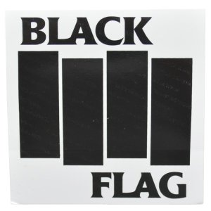 BLACK FLAG Bars & Logo ステッカー|tradmode