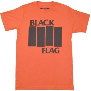 BLACK FLAG Bars & Logo Tシャツ ORANGE|tradmode|01