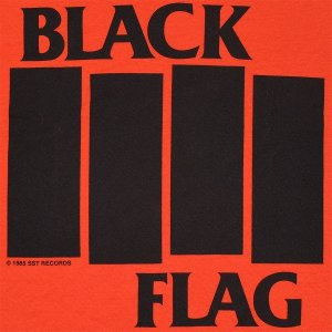BLACK FLAG Bars & Logo Tシャツ ORANGE|tradmode|02