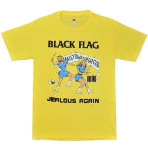 BLACK FLAG Jealous Again Tシャツ YELLOW|tradmode
