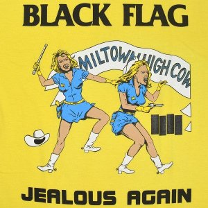 BLACK FLAG Jealous Again Tシャツ YELLOW|tradmode|02