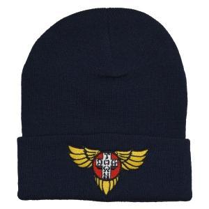 DOGTOWN Wings Logo ニット帽 NAVY|tradmode