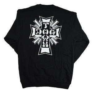 DOGTOWN Cross Logo スウェット トレーナー BLACK|tradmode