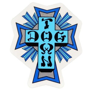 DOGTOWN Cross Logo ステッカー BLUE|tradmode