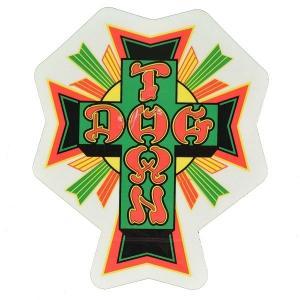 DOGTOWN Cross Logo ステッカー TIE-DYE|tradmode