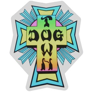 DOGTOWN Cross Logo ステッカー NEON|tradmode