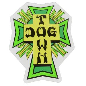 DOGTOWN Cross Logo ステッカー GREEN|tradmode