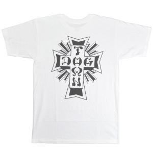DOGTOWN Cross Logo Tシャツ WHITE|tradmode