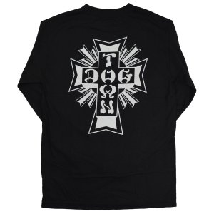 DOGTOWN Cross Logo ロングスリーブ Tシャツ BLACK|tradmode