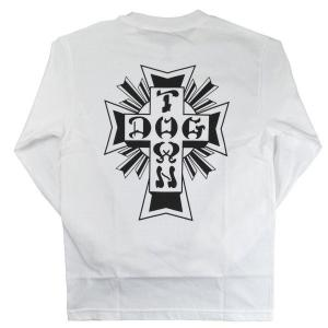 DOGTOWN Cross Logo ロングスリーブ Tシャツ WHITE|tradmode