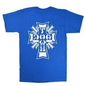 DOGTOWN Cross Logo Tシャツ ROYAL BLUE|tradmode