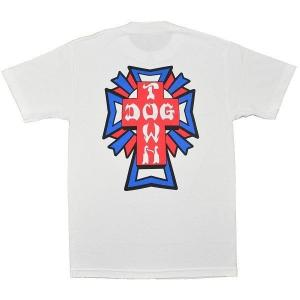 DOGTOWN Cross Logo Color Tシャツ 2 WHITE|tradmode
