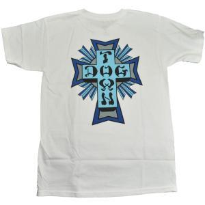 DOGTOWN Cross Logo Color Tシャツ WHITE|tradmode