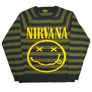 NIRVANA Striped Smiley セーター|tradmode