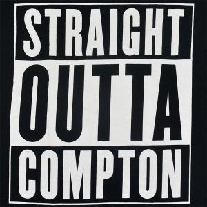 N.W.A Straight Outta Compton Logo Tシャツ BLACK|tradmode|02