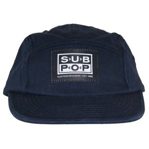 SUB POP RECORDS 5Panel Logo Patch キャップ|tradmode