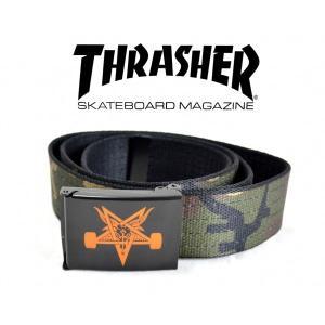 THRASHER SKATEGOAT ベルト CAMO|tradmode