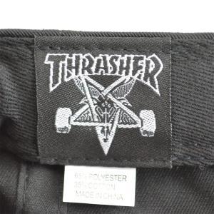 THRASHER Skate And Destroy スナップバックキャップ BLACK USA企画|tradmode|03