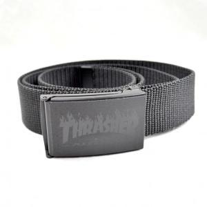 THRASHER Flame Logo Web ベルト USA企画|tradmode