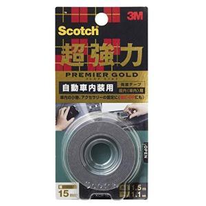 3M スコッチ 超強力両面テープ プレミアゴールド 自動車内装用 15mm×1.5m KCR-15|trafstore