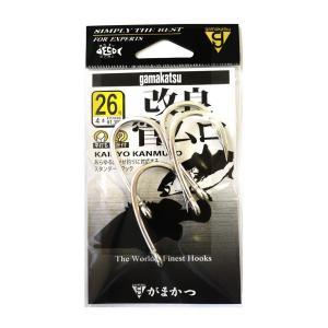 がまかつ(Gamakatsu) シングルフック 改良 管ムロ 26号 4本 銀 68441
