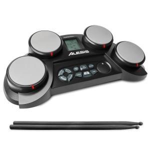 Alesis ポータブル電子ドラムキット コーチ機能搭載 ドラムスティック付き CompactKit4|trafstore