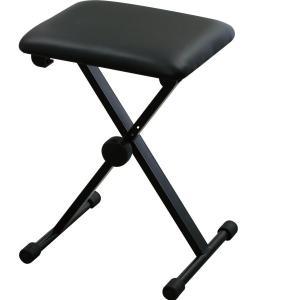 キクタニ キーボードベンチ ピアノイス X型 KB-60 ブラック|trafstore