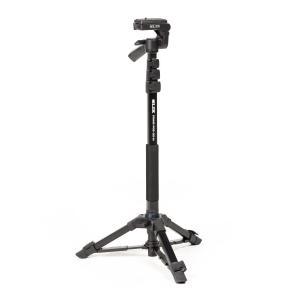 【商品コード:16009631993】一脚に自立脚を備えることで一脚よりも安定し、三脚より場所を取ら...