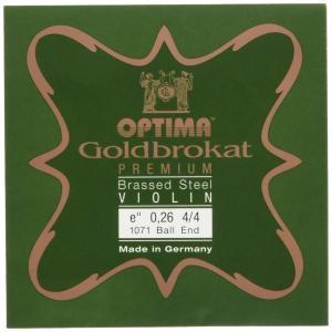 ゴールドブロカット プレミアム ブラス バイオリン弦 E線 (0.26ボールエンド)|trafstore